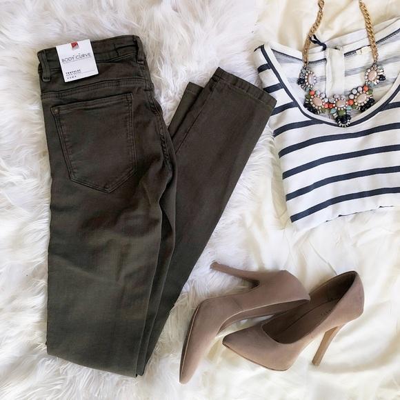 Zara Denim - Zara Green Skinny Jeans